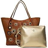 Desigual Mujer Bols_Allegreto Zaria Medium bolso de asa, marrón (camel)