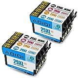 Aoioi 8er-Pack Kompatibel Tintenpatronen Ersatz für Epson multipack 29 29XL, 2 Schwarz/2 Blau/2 Rot/2 Gelb für Epson XP-235 XP-342 XP-332 XP-345 XP-442 XP-445 XP-432 XP-247 XP-335 XP-245 XP-435 XP-330 XP-430 Drucker