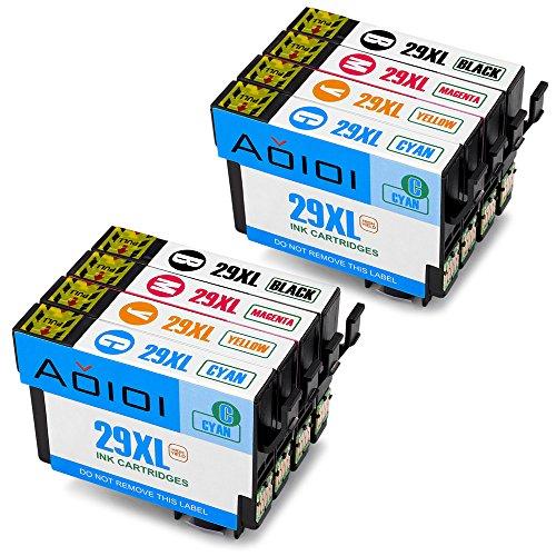 Aoioi Ersatz für Epson 29 29XL Tintenpatronen (2 Schwarz,2 Blau,2 Rot,2 Gelb) Kompatibel mit Epson XP-235 XP-342 XP-332 XP-345 XP-442 XP-445 XP-432 XP-247 XP-335 XP-245 XP-435 XP-330 XP-430