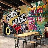 Leegt 3D Papier Peint Wallpaper Fresque Mural Fond D'Écran Personnalisé Des Murales Graffiti Art Moderne Peinture Murale Décorative De Fond Moto Fond D'Impressions Salon Canapé 350cmX300cm
