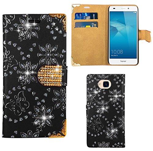 Preisvergleich Produktbild Huawei Honor 5C Handy Tasche, FoneExpert® Bling Luxus Diamant Hülle Wallet Case Cover Hüllen Etui Ledertasche Premium Lederhülle Schutzhülle für Huawei Honor 5C