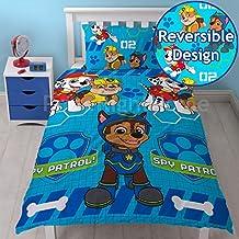 Paw Patrol 'espía' juego de cama–diseño de impresión de repetición, multicolor