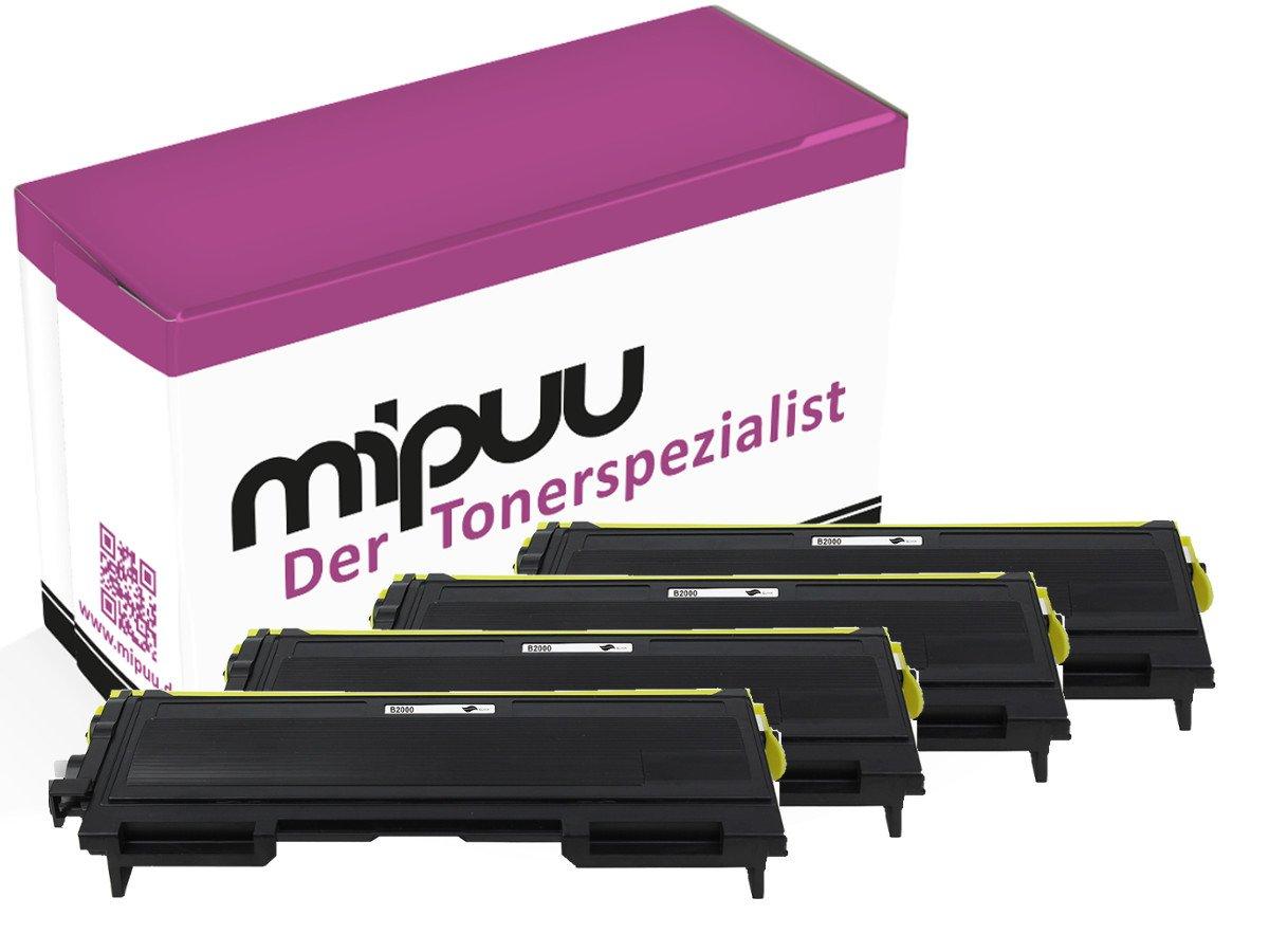 mipuu Toner Compatibile con Stampanti Brother TN 2000 (03) 4x Schwarz