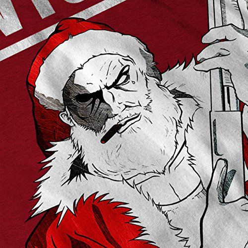 Weihnachtsmann Frech Weihnachten Knallhart Weihnachtsmann Damen Schwarz S-2XL Muskelshirt | Wellcoda Rot