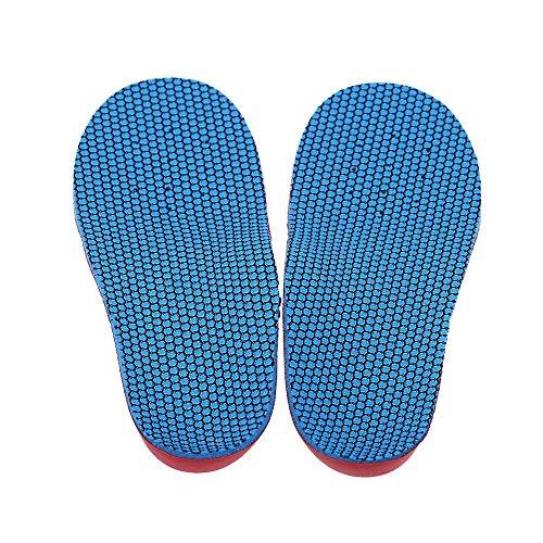 SODIAL(R)Une Paire semelles orthopedique enfants pied EVA pied plat Varus Jambes type de O / X semelle de correcteur XS