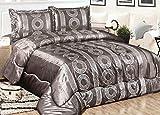 Bavary Medusa Versac Tagesdecken Set 3 TLG. Elegant und Stillvoll Neuheit und Luxus (Siler/Weiß)