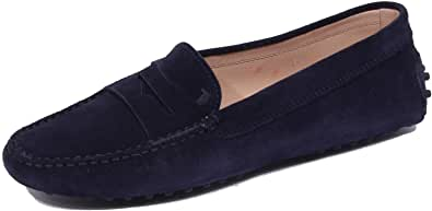 1823J Mocassino Donna Dark Blue Tod'S Scarpe Suede Shoe Loafer Woman