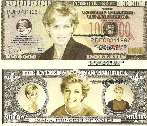 Novelty Dollar Diana Princess Of Wales Commemorative for sale  Delivered anywhere in UK