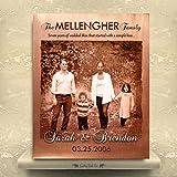 METALSIGN 7Jahre Jubiläum Persönlichen Geschenk für Pärchen Familie Faux Kupfer Einzugs Geschenk Foto zu Metall Custom Metall Jahrestag Kunstdruck 30,5x 20,3cm