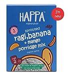 Happa Organic sprouted Ragi + Mango + Banana Porridge Mix, Baby Food, 6 Month+ - 200g
