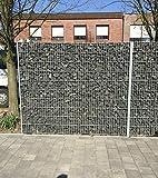 BBT@ / Gabione verzinkt 1830mm Steinkorb Steinzaun Gabione Zaun Sichtschutz Trennwand