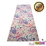 #8: Luxury Quality Non Slip Printed Design Durable 6MM Thick Yoga Mat with Carry Bag by Kids Mandi