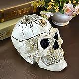qinli Extra Groß, Aschenbecher mit Deckel kreative Persönlichkeit Super Totenkopf Aschenbecher zu Boyfriend Geschenke Geburtstag Geschenke, skulls
