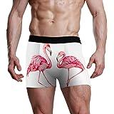 Boxer Slip Elasticizzato Traspirante Dipinto a Mano Flamingo Fashion S Intimo Uomo Slip Boxer Morbido e Avvolgente