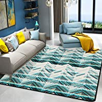 HYRL Alfombra nórdica Abstracta geométrica, 3D Impreso Alfombra de Gran tamaño para casa Moderna Vida Alfombra Espesar Sala de Estar alfombras Arte Decor,#11,80160