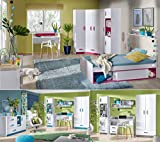 Jugendzimmer Kinderzimmer komplett THIAGO Set C Eckschrank 2 Standregale Schreibtisch Wandregal Bett 200x90 NEU