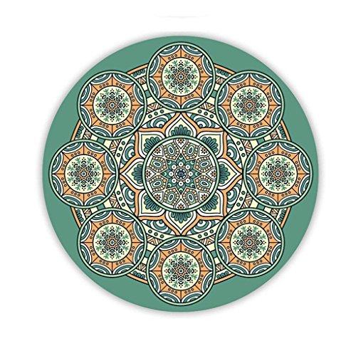 NAERFB Yogamatten, Naturkautschuk Rutschfeste Verdicken Drucken Fußmatte Rundschreiben Yoga Meditation Pad Gute Elastizität