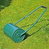 Rouleau à gazon de jardin robuste 104L x 42lcm grande capacité 30L vert neuf 21