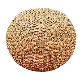 Chaise vintage ronde en rotin de bambou pour changer les chaussures Tabouret/petit banc de décoration de la maison