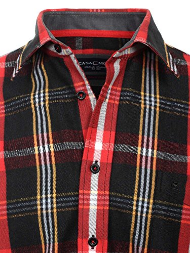 CASAMODA Herren Businesshemd 431858000 Regular Fit bügelleicht Rot