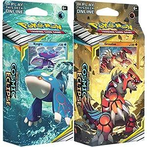 Pokémon 81596 Pokemon-Sun and Moon 12: Cosmic Eclipse-Theme Decks-Set de 2 Groudon & Kyogre