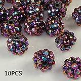 Wadoy 10mm Clay Pave Disco Round Ball Shamballa Perlen Charms für Frauen Mädchen Armband Schmuck Macht von TheBigThumb