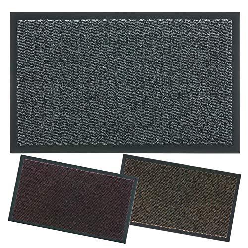 Zerbino ingresso casa lipari i tappeto antiscivolo entrata i per interno da esterno i tappeti asciugapassi aderente al pavimento non piega i moderno (40x60, grigio)