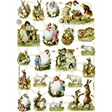Troqueles vintage, hoja 16,5 x 23,5 cm, Country Easter, 3 hojas
