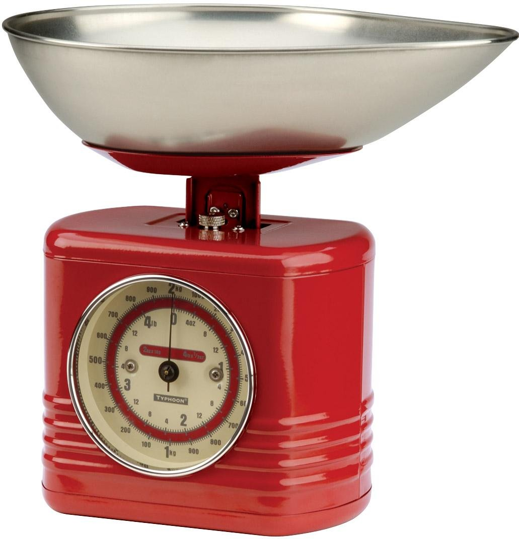 Typhoon Vintage Kitchen Scales, Red: Amazon.co.uk: Kitchen & Home