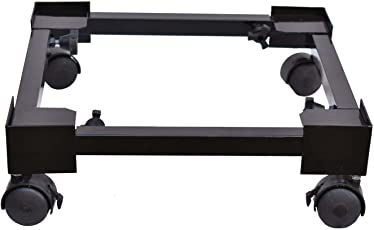 Halo Nation Metal Trolley Stand For Top Loading Washing Machine & Refrigerator ,(410 X 410 Mm To 730 X 730 Mm) (Black)