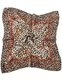 Nella-Mode CHIC & ELEGANT: Leoparden NICKITUCH, Tuch, Halstuch Klassisches Leo-Muster; 53x53 cm, Braun