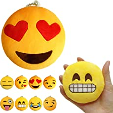 Party Propz Cute Emoji Cushion Soft Stuffed Plush Toy Key Chain for - Set of 12