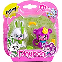 Pinypon Pack 2 Mascotas, Conejo y Mono. (Famosa 700012732)
