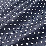 Stoff Baumwolle Acryl Punkte klein dunkelblau weiß