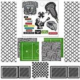 Scrapbook Customs Themed Paper Scrapbook Kit, Lacrosse Sport Paper