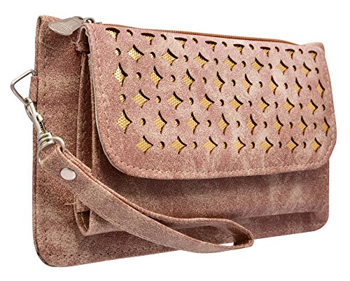 Tap Fashion Fancy Stylish Elegance Fashion Synthetic Camel Brown Handmade Wallet/ Clutch/ Purse for Girls and Women.  available at amazon for Rs.298
