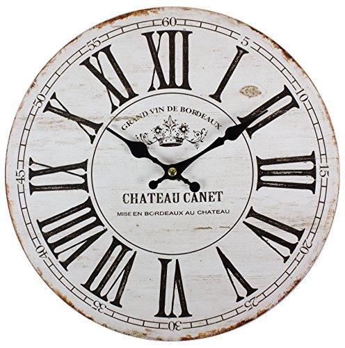 Perla pd Design Reloj de pared, de cocina, diseño vintage, diámetro aprox....