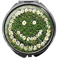 Pillendose/rund/Modell Leony/Natur - Blumen/SMILEY preisvergleich bei billige-tabletten.eu