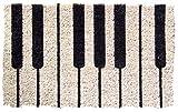 Entryways P1026 Rutschfeste Kokosfußmatte mit mit Klaviermuster, 40 x 60 cm