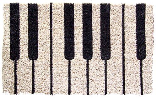 Felpudos fibra coco (45 x 75 cm, fibra de coco), diseño de piano