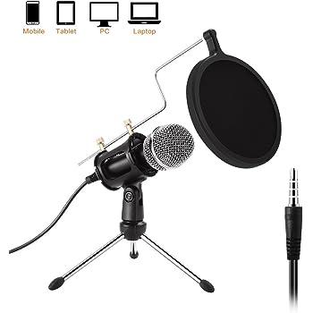 pc mikrofon etpark mini kondensatormikrofon mit. Black Bedroom Furniture Sets. Home Design Ideas