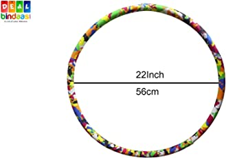 DealBindaas Hula Hoop Foam for Adult Kids Premium Quality Exercise Fitness Ring Multi Colour 56 cms Diameters