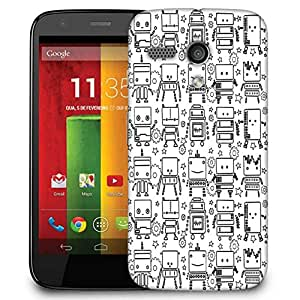 Snoogg Digit Bit Boy Pattern Case Cover For Motorola G / Moto G