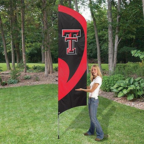 Party Animal Texas Tech Rot Raiders NCAA mit Applikation und Stickerei groß Team Flagge (259,1x 76,2cm)