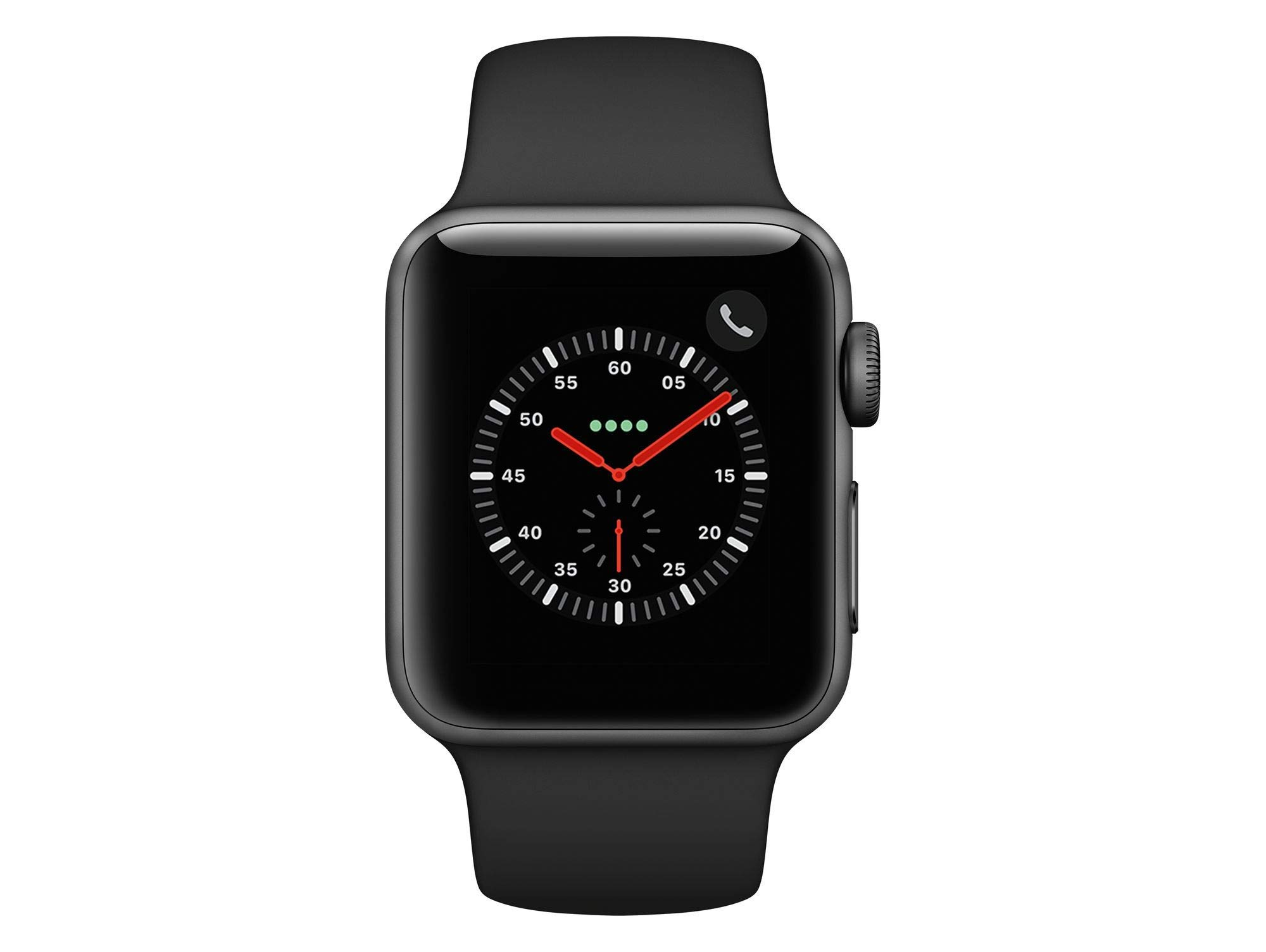 AppleWatch Series3 GPS+Cellular, Case with White Sport Band