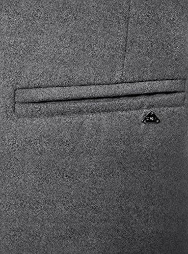 oodji Ultra Damen Klassischer Mantel mit Ein-Knopf-Verschluss Grau (2501M)