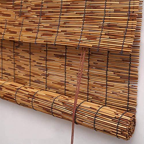 Koovin Persianas enrollables de bambú, persianas de persianas Naturales, Cortinas Anti-UV/moldproof/Decorativas, para Interiores/Exteriores/jardín/Ventanas