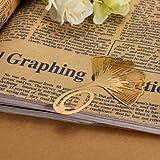 MECO Lesezeichen GinkgoBlatt Metall Geschenk Mitbringsel Buch Lese verschiedene Formen