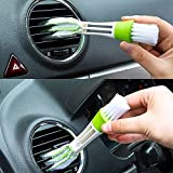 Auto Hub Multipurpose Microfiber Double Sided Car Cleaning Brush for Car A/c vents, blinds , Keyboard