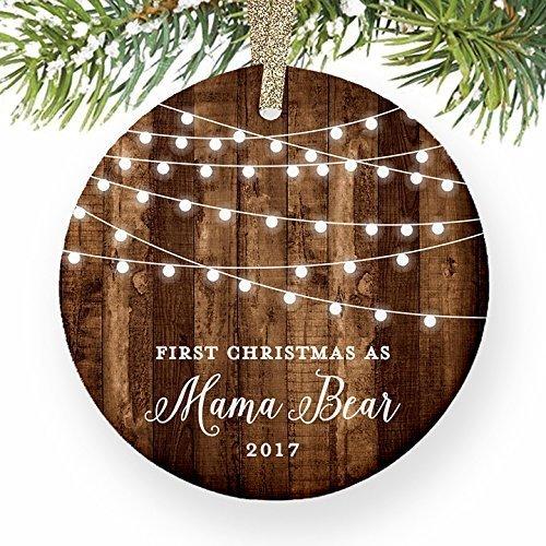 Geschenke 1. Weihnachten als Mutter New Mom Neugeborene Baby Schwangere Schwangerschaft datiert Rustikal Weihnachts Weihnachtsbaum Geschenk Idee (Bar-dekor-ideen)
